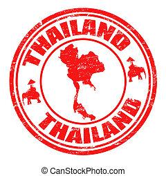 thailand, stämpel