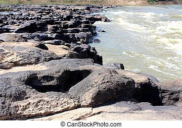 thailand, sten, flod rock