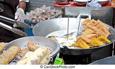 thailand, street food - thai street food in market place
