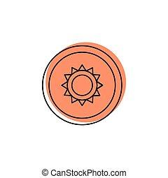 Thailand symbol icon, doodle style