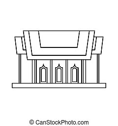 Thailand Temple icon, outline style