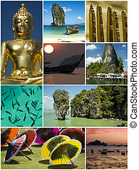 collage - thailand theme collage made from nine photographs