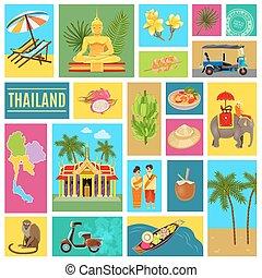 Thailand Tiled Poster