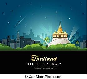 Thailand tourist landmarks worshipers on important