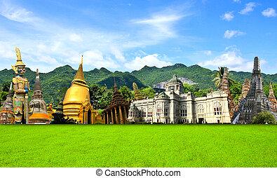 Thailand travel background concept
