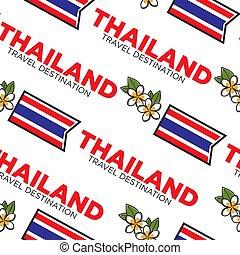 Thailand travel destination seamless pattern with Thai ...