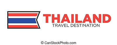 Thailand travel destination sign - Vector illustration of...