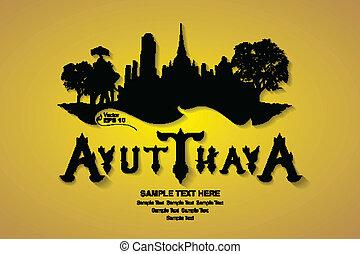 thailand travel, vector illustratio