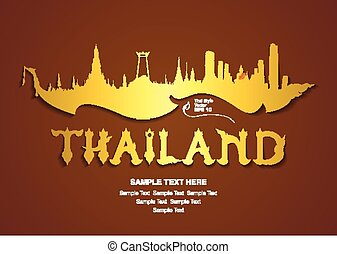 thailand travel, vector illustratio