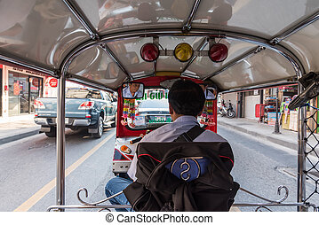 Thailand Tuk-Tuk taxi is a tricycle