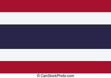 Thailand vector flag. The flag of Kingdom of Thailand