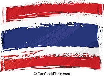 thailand vlag, grunge
