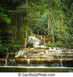 Thailand waterfall in the national park