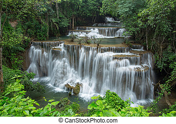 thailand, waterval, landscape