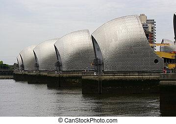 Thames flood barrier - The Thames flood barrier