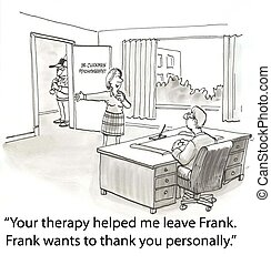 Thank therapist - husband wants to show his approval