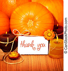 Thank you background, thanksgiving greeting card