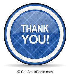 thank you blue icon