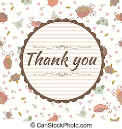 Thank you card. Floral frame