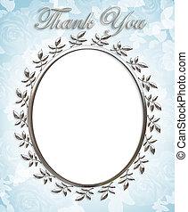 Thank you Card or Wedding Frame