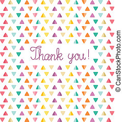Thank you card template. Vector illustration