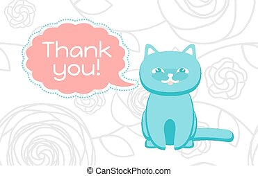 Thank you card - Thank You card with a cat