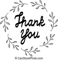 Thank you card - vector thank you card with olive cards