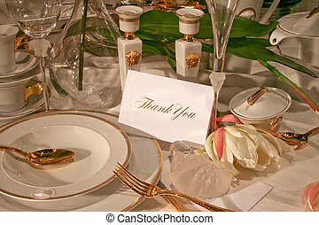 Thank you - Celebration table top thank you greeting card