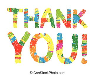 Thank you color abstract lettering.