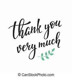 Thank you Family Positive quote lettering