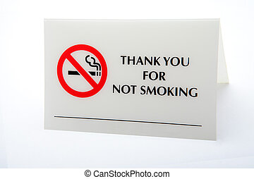 notice - thank you for not smoking notice