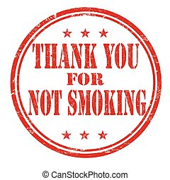 Thank you for not smoking stamp