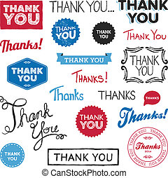 Thank you graphics - Set of various drawn and rendered Thank...