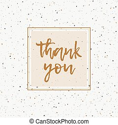 Thank You Greeting Card Lettering Vector