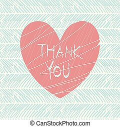 thank you hand draw card. vector illustration, 10 eps