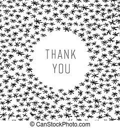 Thank You Hand Drawn Card