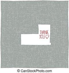 Thank You Hand-drawn Card