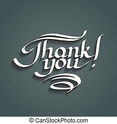 Thank you hand-drawn lettering. Eps10 vector illustration