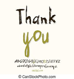 Thank you hand lettering
