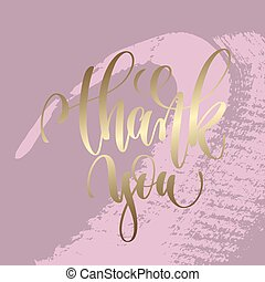 thank you hand lettering inscription