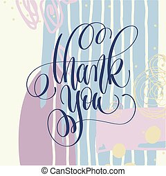thank you hand lettering poster on abstract painting background
