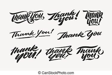 thank you hand written lettering bundle