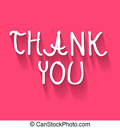 Thank You Hand Written Title on Pink Background