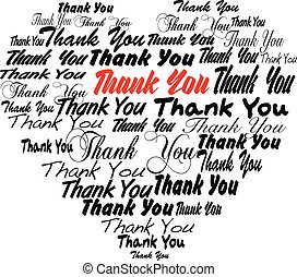 Thank you - heart shape tagcloud