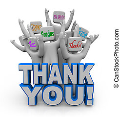 Thank You in Different International Languages - A group of...