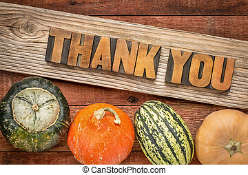 Thank you in fall haliday decoration