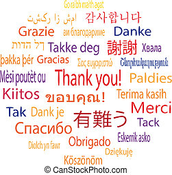 Thank You in many languages, vector illustration