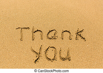 Thank you - inscription by hand