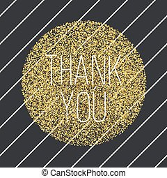 Thank you. Invitation card design template. Diagonal black...