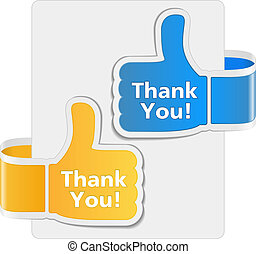 Thank you labels, vector eps10 illustration